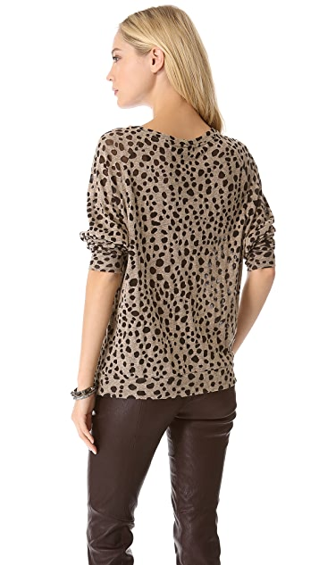 By Malene Birger Olive Leopard Tee