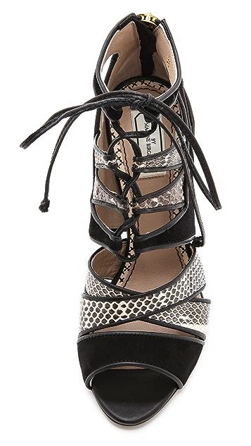 By Malene Birger Petrea Lace Up Sandals