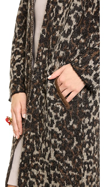 By Malene Birger Cameliu Long Leopard Cardigan