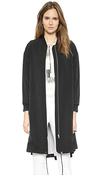 By Malene Birger Ink Extra Long Bomber Coat
