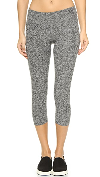 Beyond Yoga Space Dye Capri Leggings - Black Space Dye
