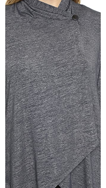 Beyond Yoga Cloud Heather Drape Front Cardigan