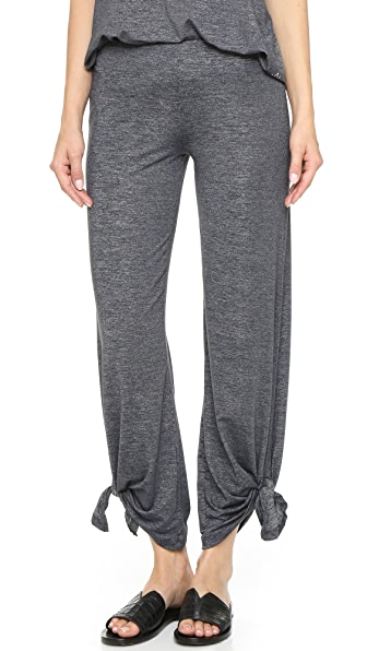 Beyond Yoga Cloud Heather Ankle Tie Pants