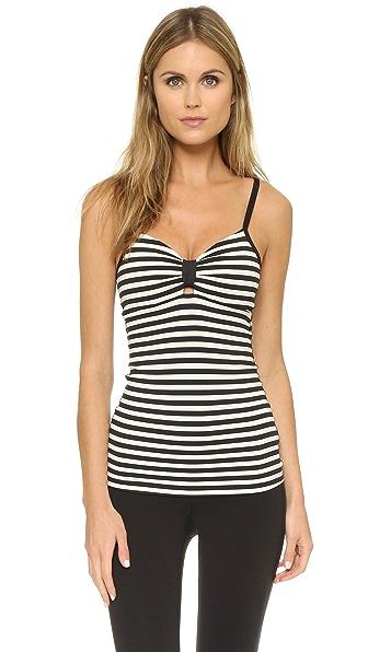 Beyond Yoga Kate Spade Tank - Black/Cream Stripe
