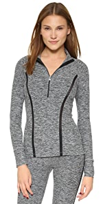 Space Dye Stripe Half Zip Top                Beyond Yoga