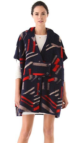 Cacharel Printed Wool Coat