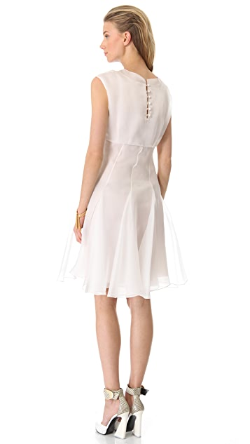 Cacharel Short Sleeve Organza Dress
