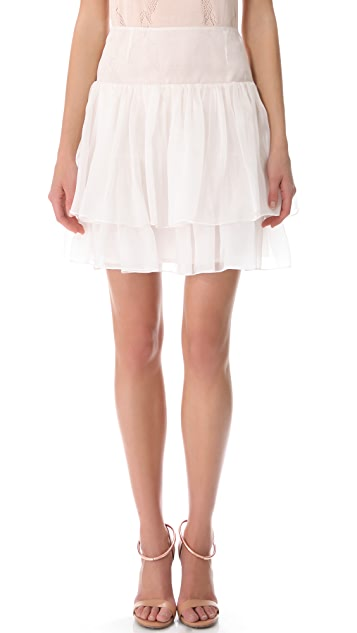 Cacharel Organza Ruffle Skirt