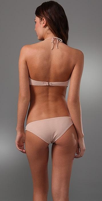 Cali Dreaming Twist Front Bandeau Bikini