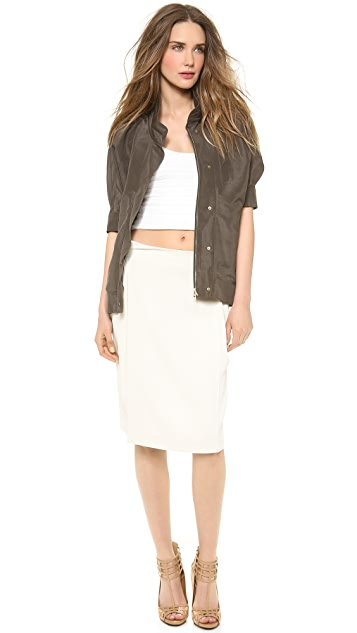 Calvin Klein Collection Ulama Silk Taffeta Jacket