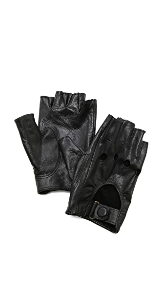 Carolina Amato Fingerless Moto Gloves at Shopbop