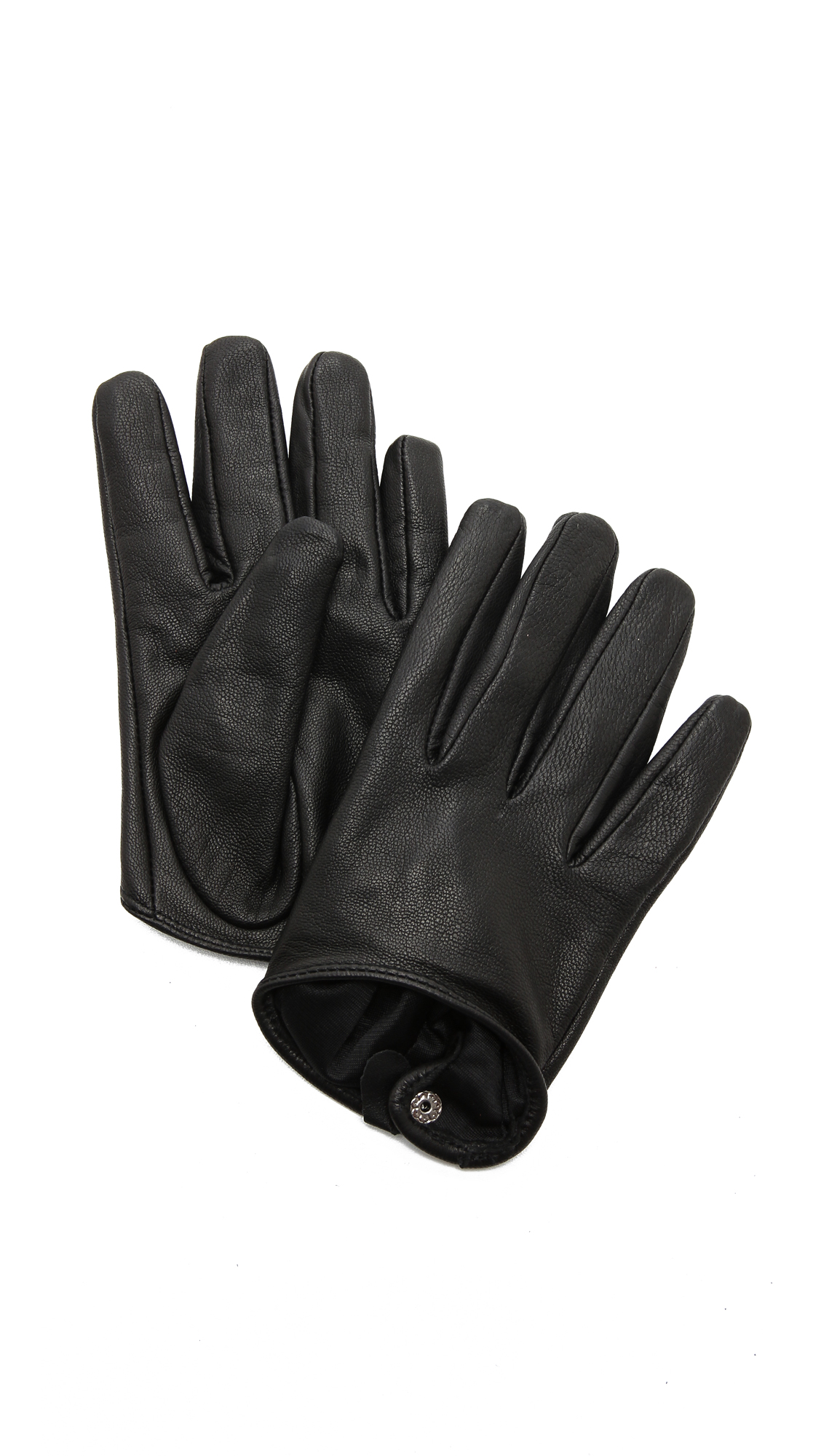 Ladies leather gloves designer - Carolina Amato Short Leather Gloves
