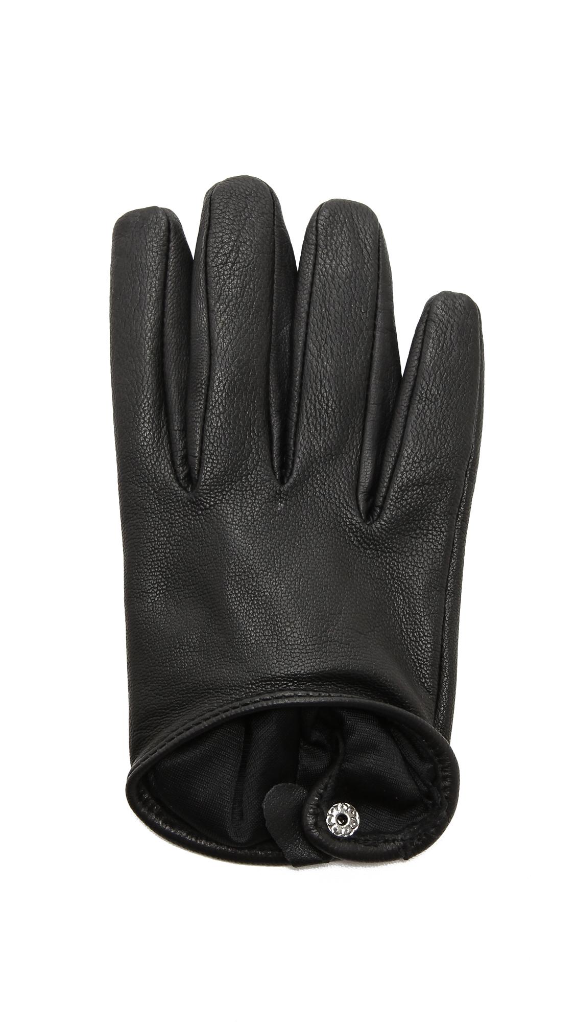 Carolina Amato Short Leather Gloves Shopbop Save Up To 25 Use Glove Code More18