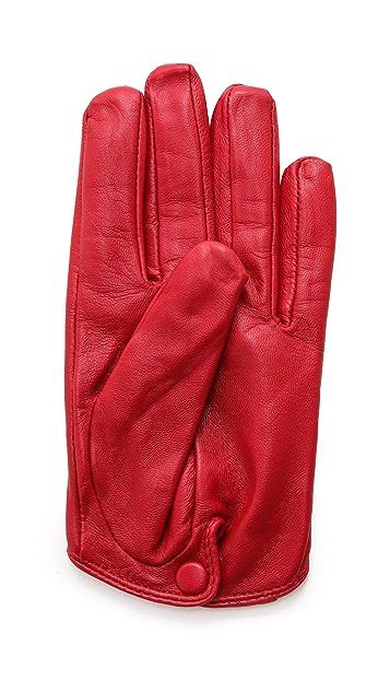 Carolina Amato Short Leather Gloves