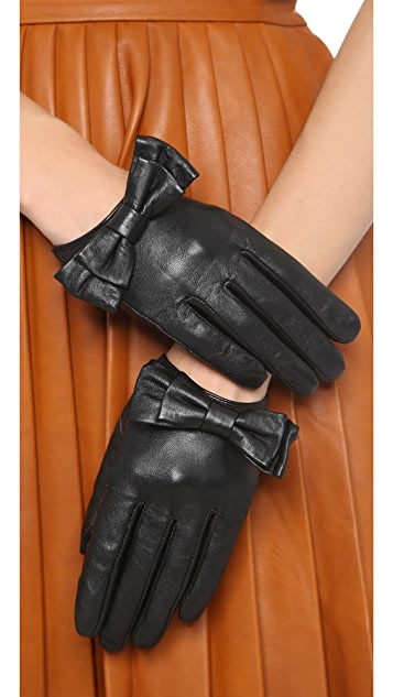 Carolina Amato Bow Snap Gloves