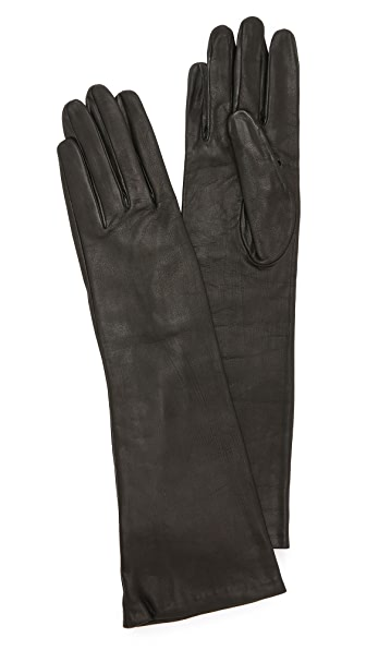 Carolina Amato Long Leather Gloves at Shopbop