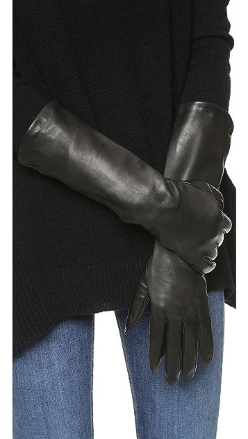 Carolina Amato Long Leather Gloves