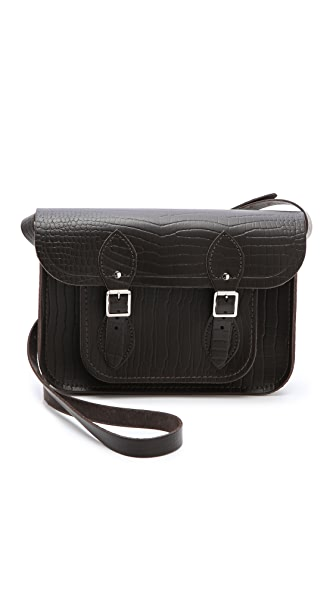 "Cambridge Satchel Croc Embossed 11"" Satchel"