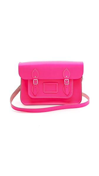 "Cambridge Satchel 14"" Fluoro Satchel"