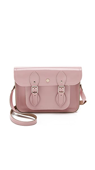 "Cambridge Satchel 11"" Patent Satchel with Magnetic Closures"