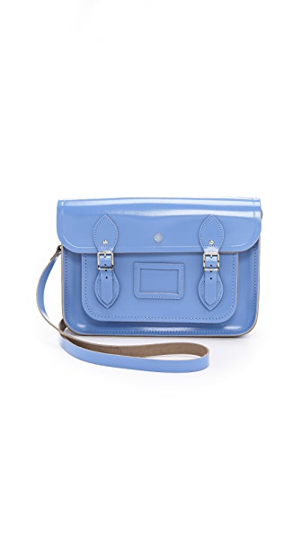 "Cambridge Satchel 13"" Patent Satchel with Magnetic Closures"