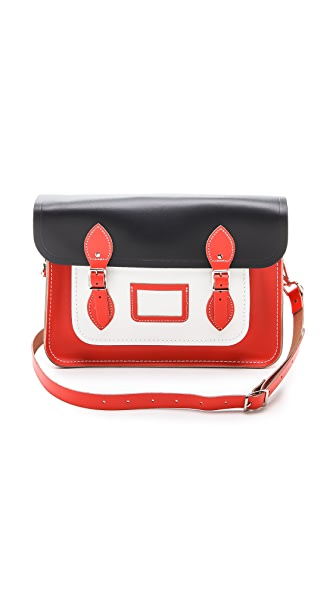 "Cambridge Satchel 14"" Colorblock Satchel"