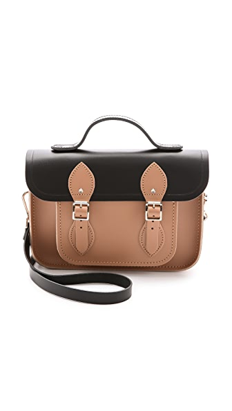 Cambridge Satchel 11'' Two Tone Satchel with Top Handle