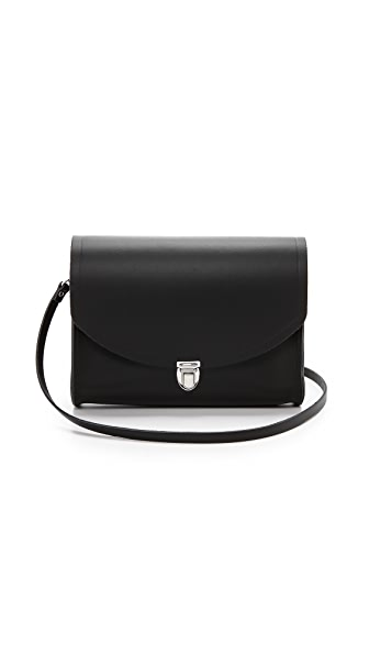 Cambridge Satchel Large Push Lock Bag - Black