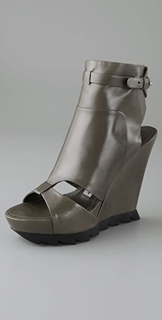 Camilla Skovgaard Open Toe Ankle Booties with Lug Platform