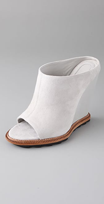 Camilla Skovgaard Suede Slide Wedges on Lug Sole