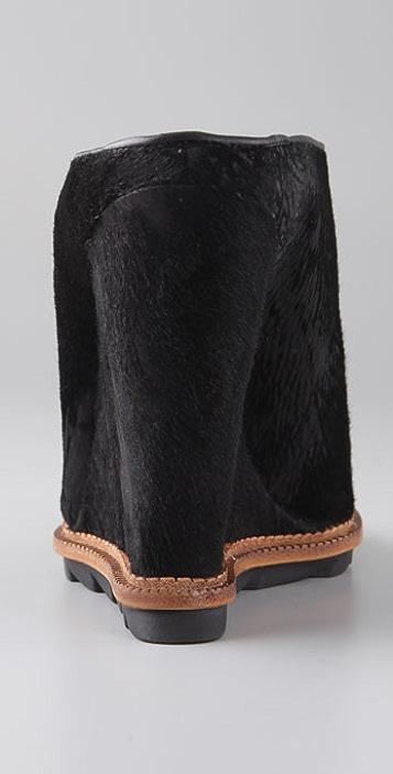 Camilla Skovgaard Haircalf Slide Wedges on Lug Sole
