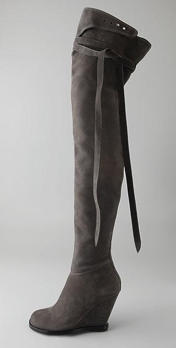 Camilla Skovgaard Over the Knee Wedge Boots