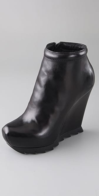 Camilla Skovgaard Round Toe Wedge Booties on Lug Sole