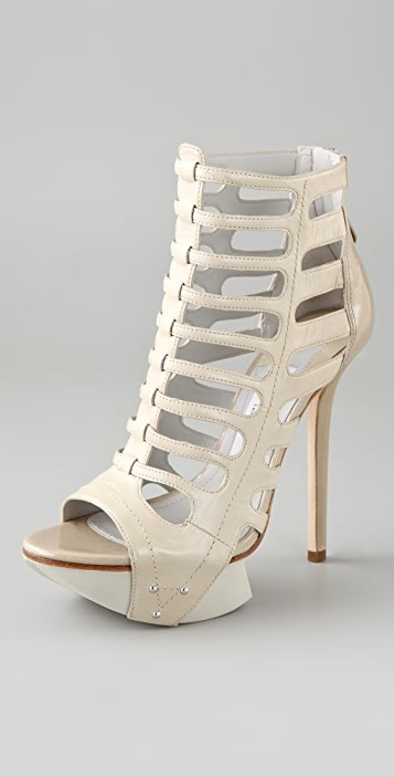 Camilla Skovgaard Spear Stiletto Caged Booties