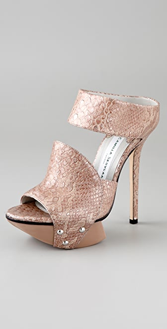 Camilla Skovgaard Metallic 2 Band Platform Sandals