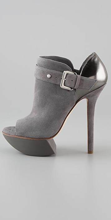 Camilla Skovgaard High Vamp Booties with Buckled Strap