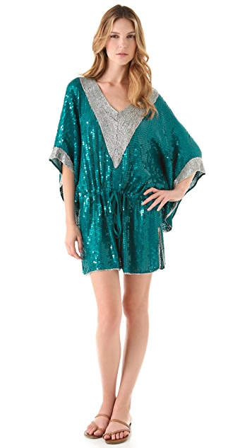 Camilla Sequin Caftan Cover Up Dress