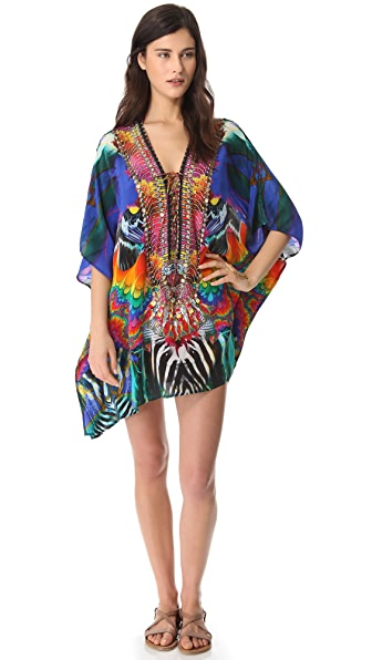 Camilla Short Lace Up Caftan