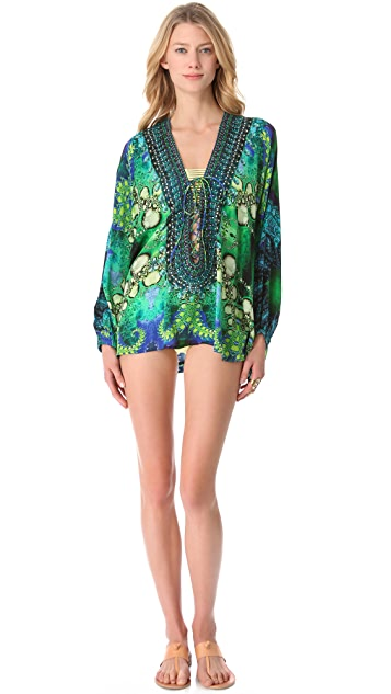 Camilla Sinti Lace Up Cover Up Top