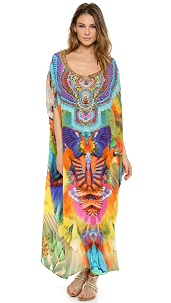 Camilla Of the Skies Round Neck Caftan
