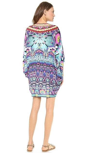 Camilla Bat Sleeve Mini Dress