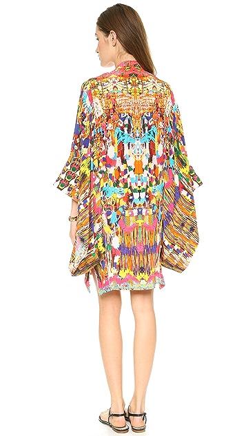 Camilla Oversized Sleeve Short Caftan