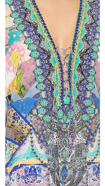 Camilla Short Lace Up Caftan