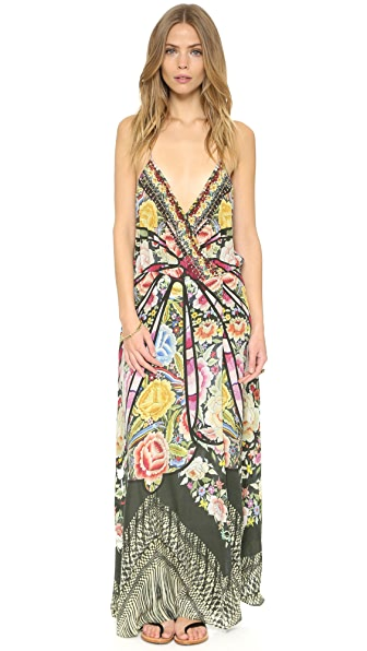 Camilla Flamenco Sweep Strappy Wrap Dress - Flamenco Sweep