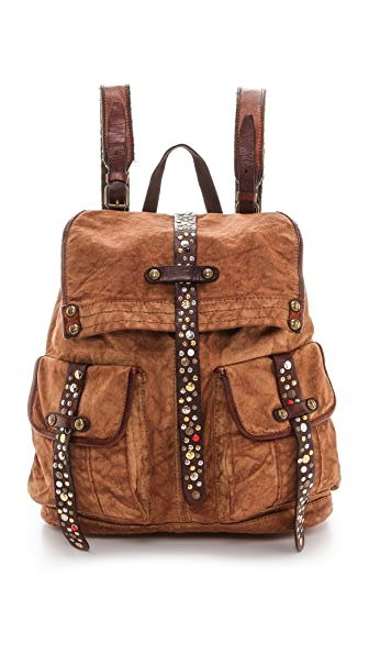 Campomaggi Rucksack with Leather Trim