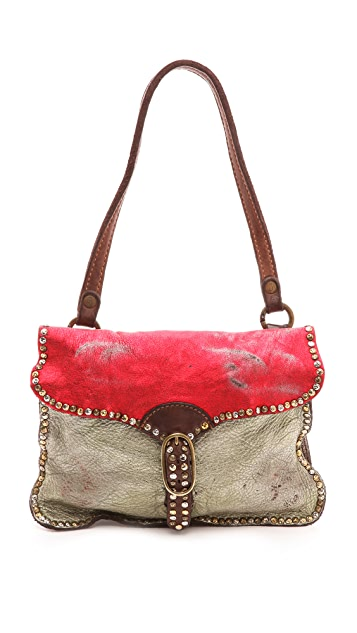 Campomaggi Laminated Leather Shoulder Bag