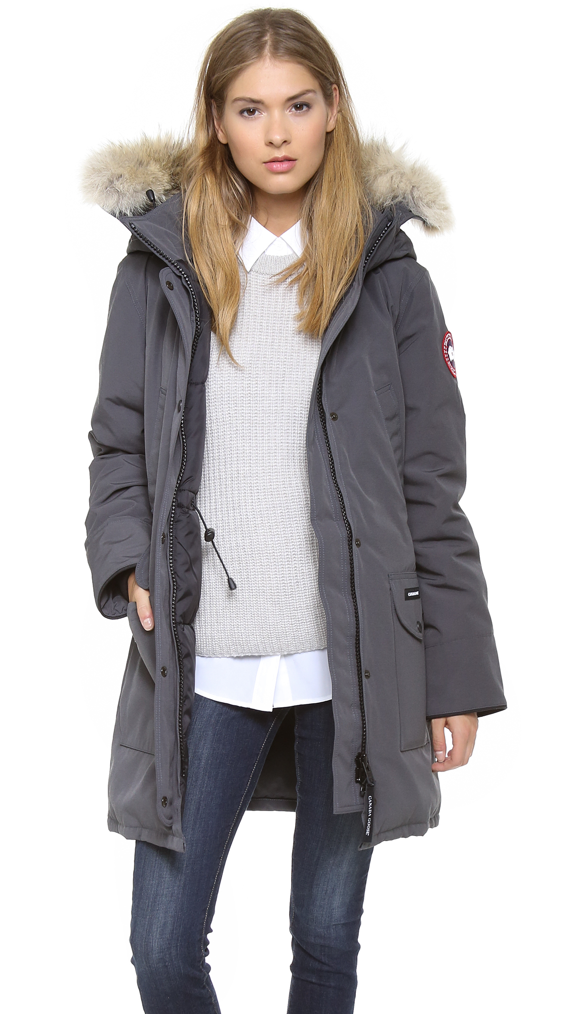 canada goose rossclair parka limestone