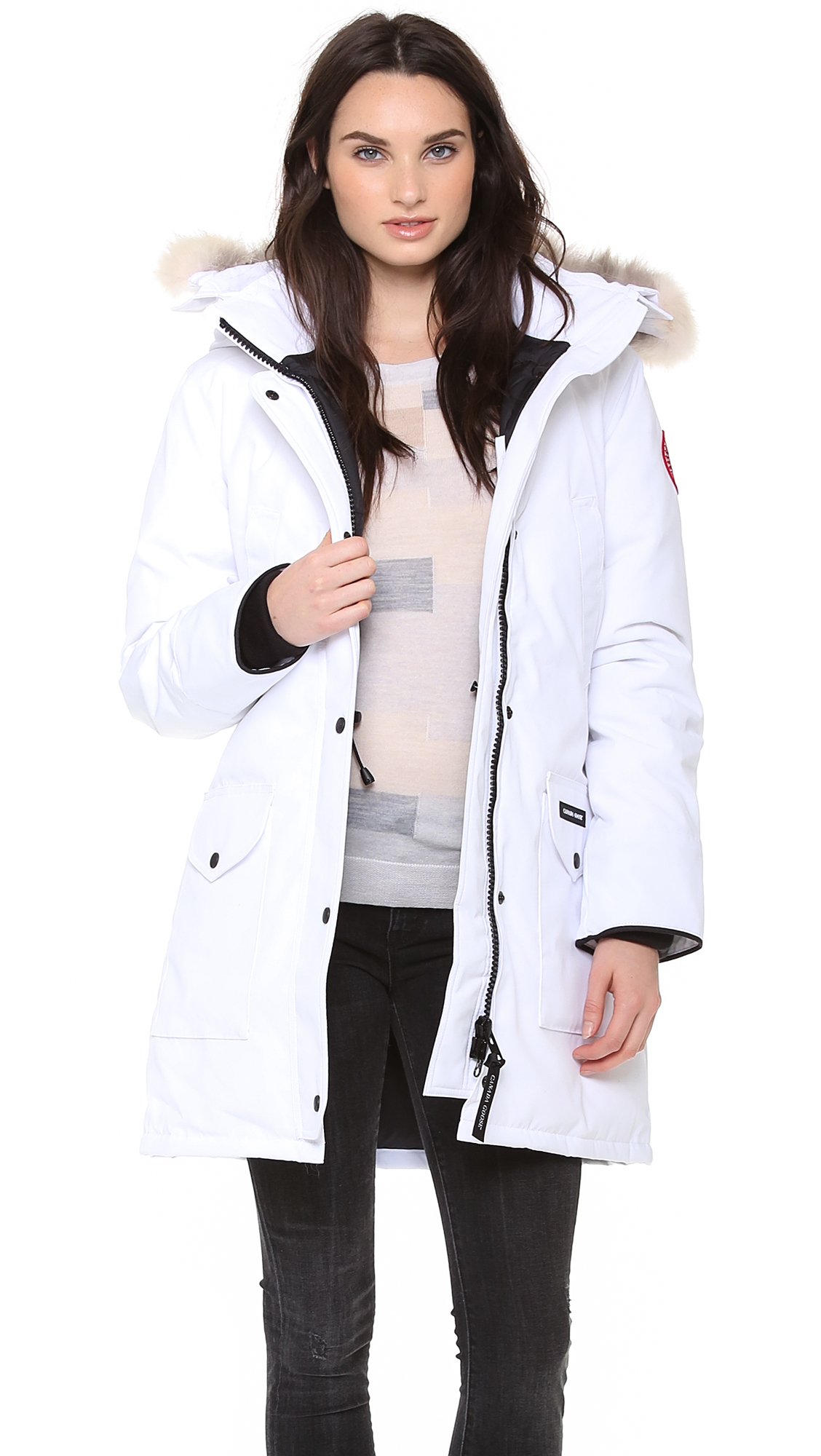 cleaning white canada goose jacket