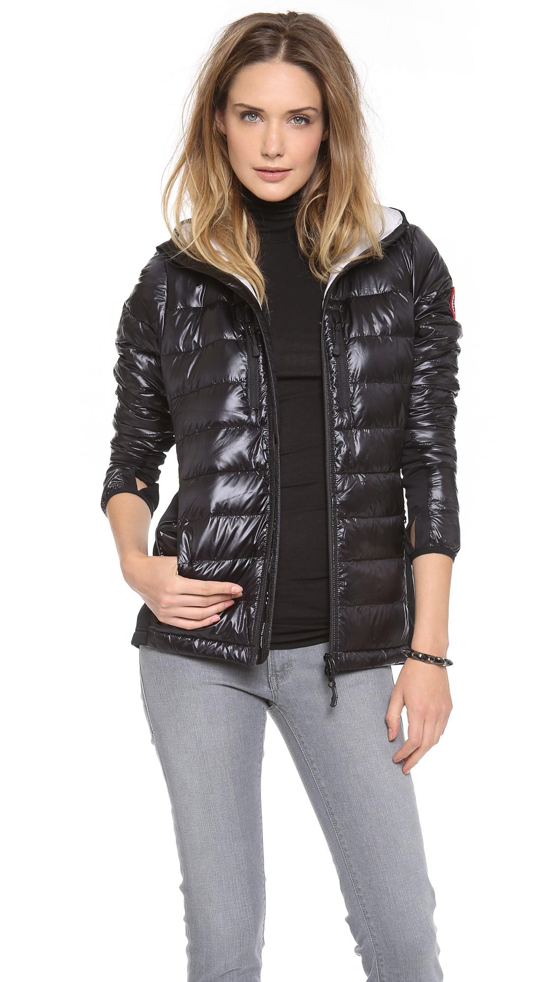 canada goose hybridge lite hooded down jacket - women's