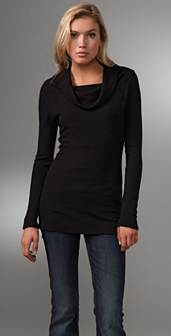 C&C California Thermal Cowl Neck Top